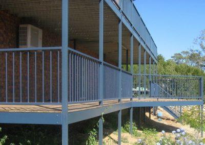Grange Design 2 Rail Balustrade 40 Square Rails – Aluminium Construction Deep Ocean Normanville