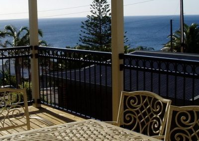 Henley Design with Handrail Continuous Circles Aluminium Construction. Handrail brackets fabricated to suit profile of handrail Hallett Cove Satin Black