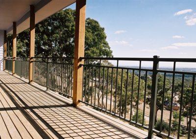 Henley Design with Handrail & Baskets welded into panels Aluminium construction Port Noarlunga South Satin Black