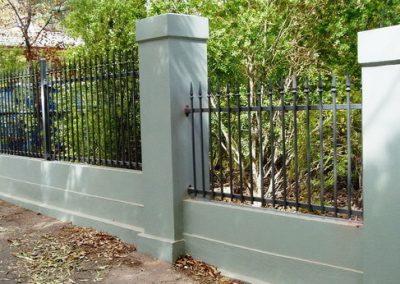 Seacliff Design Arched Melrose Spear Level Melrose Between Rendered Pillars Woodland Grey Mitcham