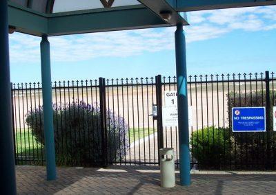 Seacliff Design; Level Fleur De Lis Spear; Satin Black; Whyalla Airport