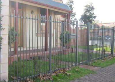 Keswick Design; Front Fence, Sliding Gate & Superior letterbox; Woodland Grey; Glenelg