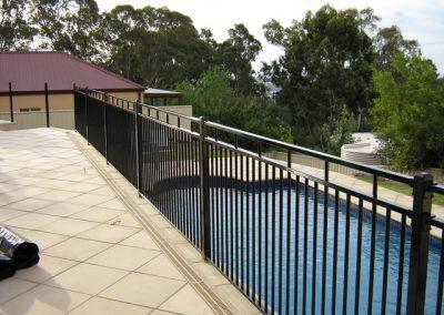 Henley Design; 3 Rail Balustrade 40 square Rails; Satin Black; Chandlers Hill