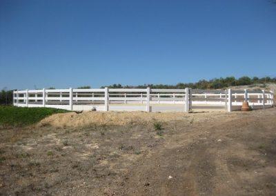 Post & Rail; Round Yard; White; Port Lincoln