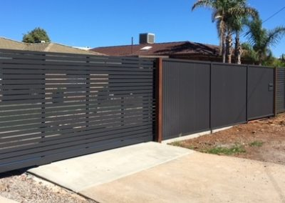 Horizontal Slat Single & Sliding Gate. Monument