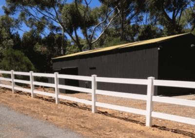 Post & Rail; Boundary Fencing; White; Cherry Gardens
