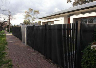 Burnside Design 50x10 On Edge Front Fence with H Posts Glenunga Woodland Grey