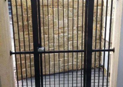 Burnside Design 50x10 On Edge Gate with 001 Lockwood Lock Norwood Satin Black
