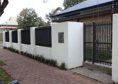 Burnside Design 50x10 On Edge Gate with Lokk Latch Unley Satin Black