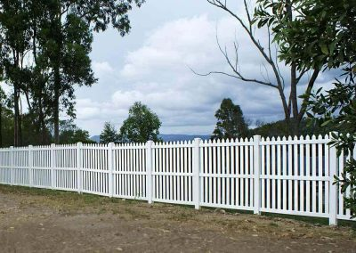 Colonial Level Picket Available in White, Ivory, Sandstone & Almond