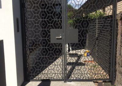 Custom Plasma Cut Aluminium Gate & Panel Unley Monument
