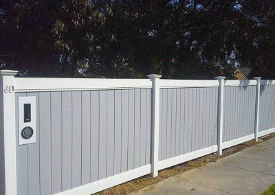Privacy Fencing 1500mm High Available in White, Almond or Grey White & Grey Pictured