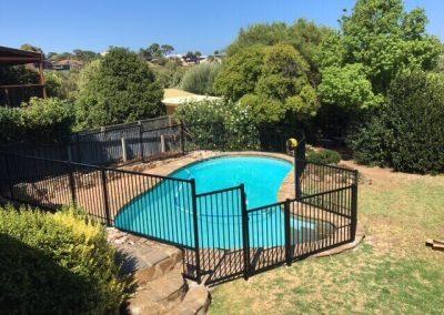 Grange Design Pool Fence Seacliff Park Satin Black