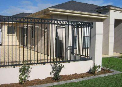 Henley Design;Circles Fencing Off Courtyard; Satin Black;Morphettville