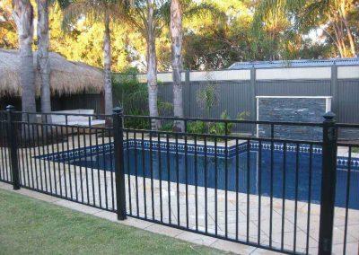 Henley Design Pool Fence 3 Rail Balustrade Woodcroft Satin Black