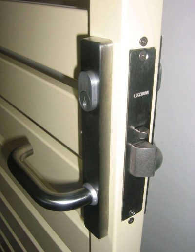 Satin Chrome Mortice Lock with Handles on both sides