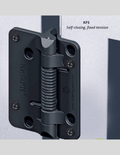 Black Polymer (Self Closing) Hinge