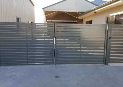 Leabrook Design Horizont Slats 50x10 Single Gate with Lokk Latch Wallaroo Woodland Grey
