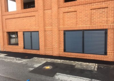 Leabrook Design Horizontal Louvre Screens for Plant Room Norwood Monument