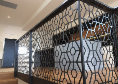 Custom Balustrade - Lasercut with Top Rail - installed in Unley